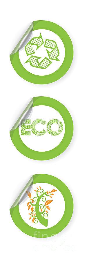 Eco Digital Art - Environmental Sticker Design by HD Connelly