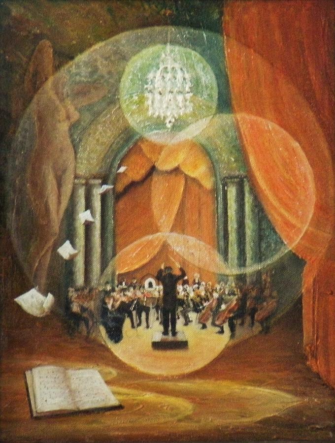 Musique Classique Painting - Envolee Lyrique by Frank Godille