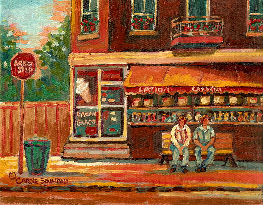 Montreal Painting - Epicerie Latina Montreal by Carole Spandau