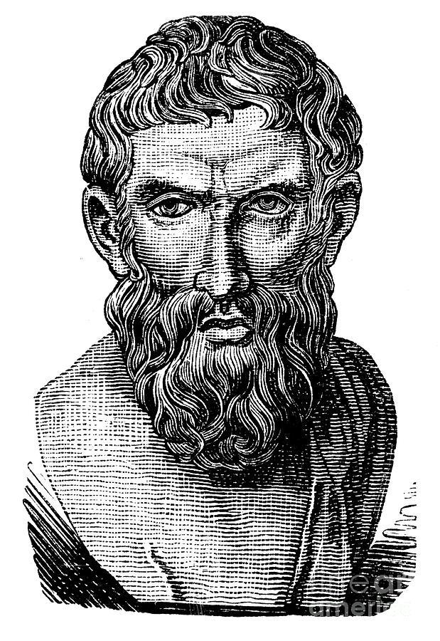 Ancient Photograph - Epicurus (343?-270 B.c.) by Granger