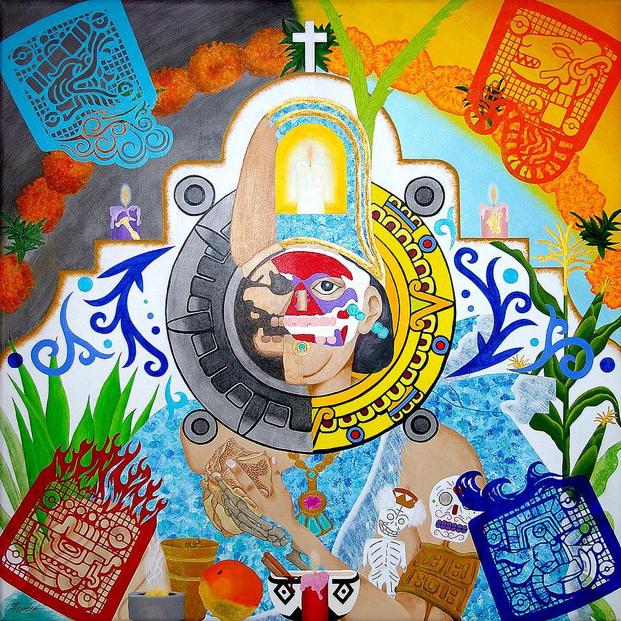 Dia De Los Muertos Painting - Epocalypto by Guadalupe Herrera