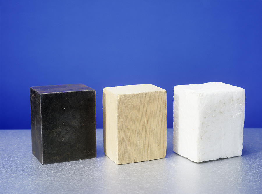 Polystyrene Photograph - Equal Volumes Of Different Materials by Andrew Lambert Photography
