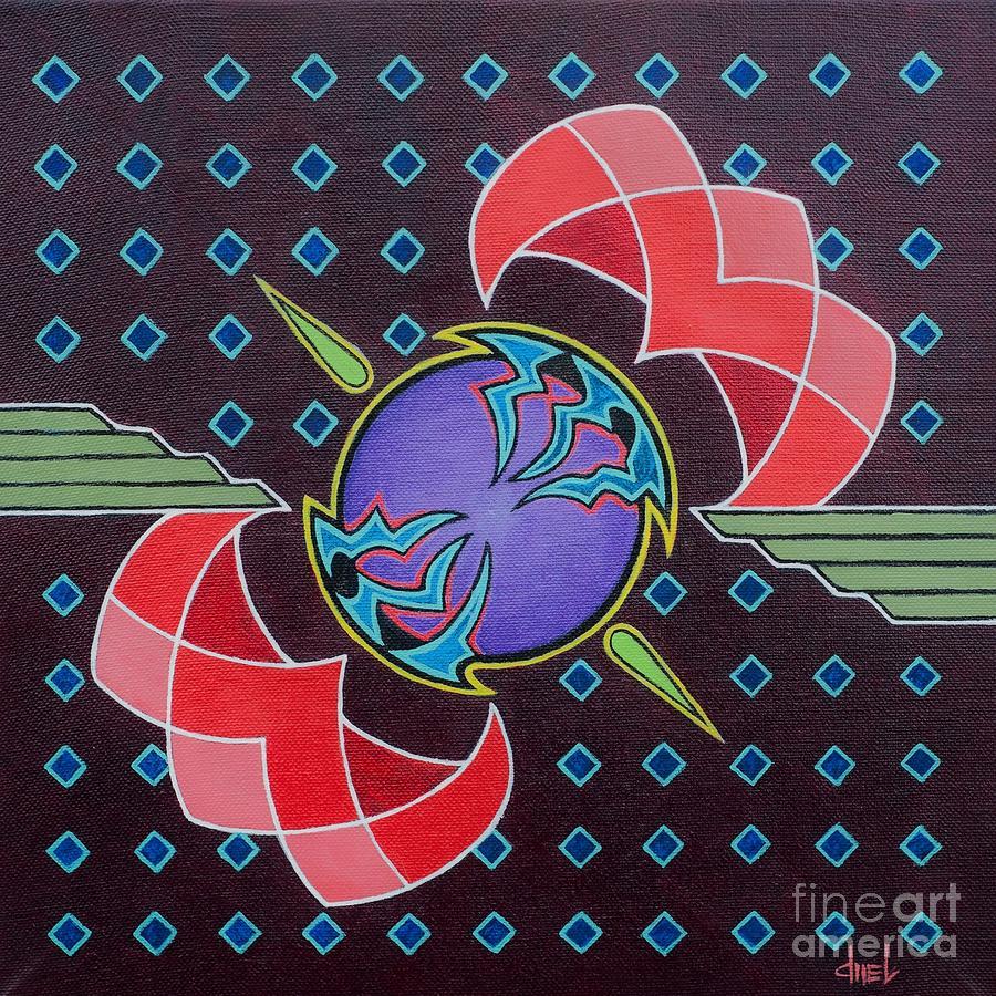 Mandala Painting - Equalibrium by David Mel