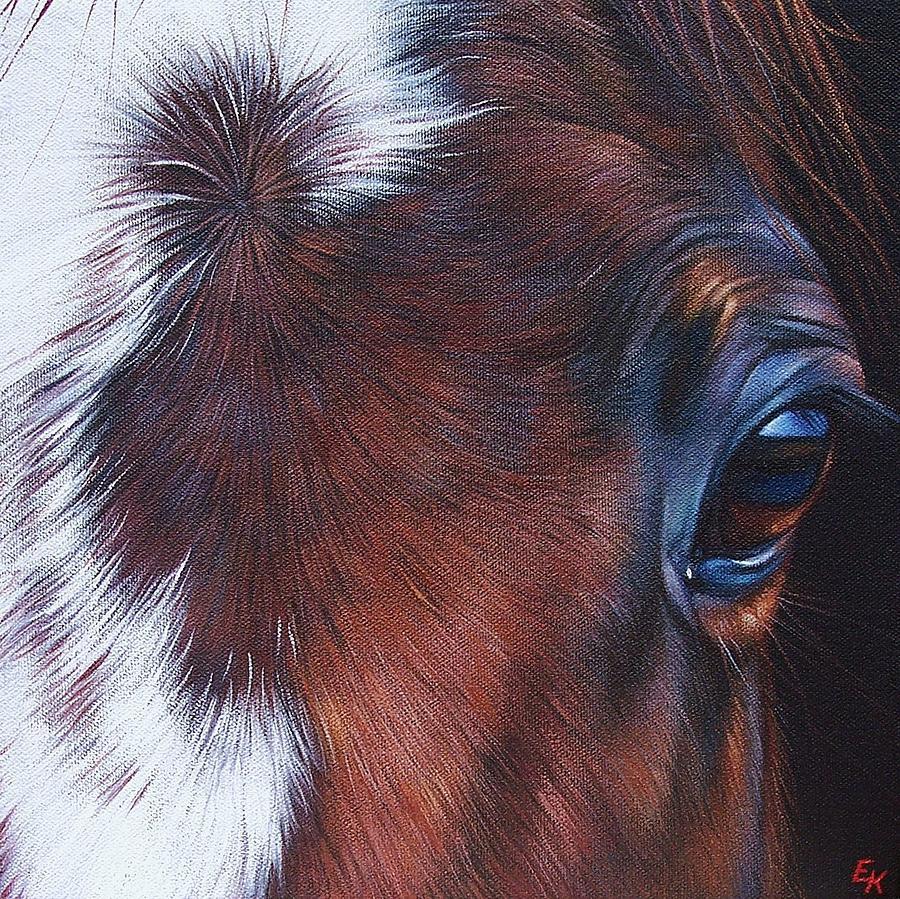 Horse Painting - Equine 1 by Elena Kolotusha