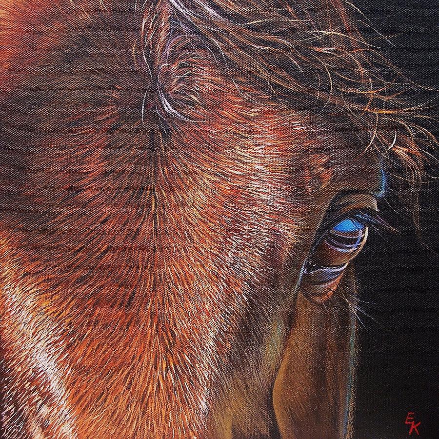 Horse Painting - Equine 2 by Elena Kolotusha