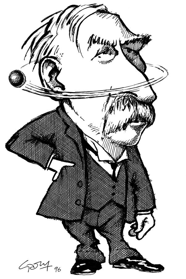 Ernest Rutherford Photograph - Ernest Rutherford, Caricature by Gary Brown