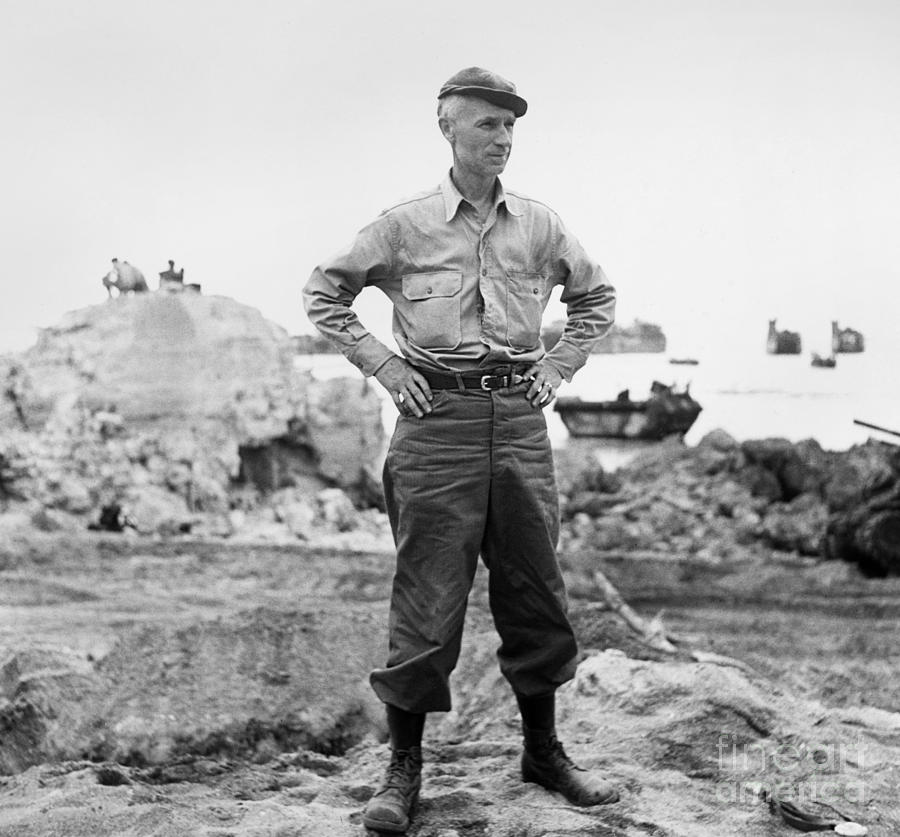 1942 Photograph - Ernie Pyle (1900-1945). American Journalist. Photograph, C1942 by Granger