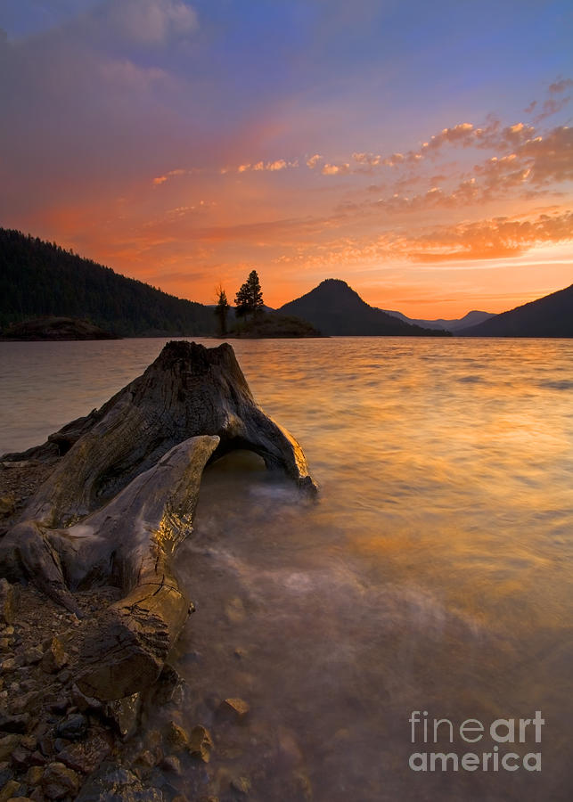Sunset Photograph - Eroded Away by Mike  Dawson