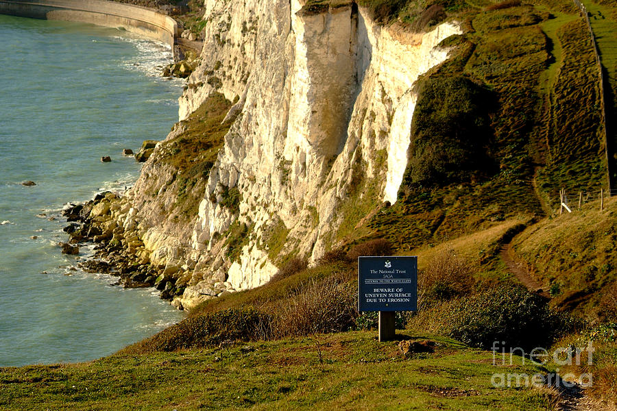South Foreland Lighthouse Photograph - Erosion At Work by Serena Bowles