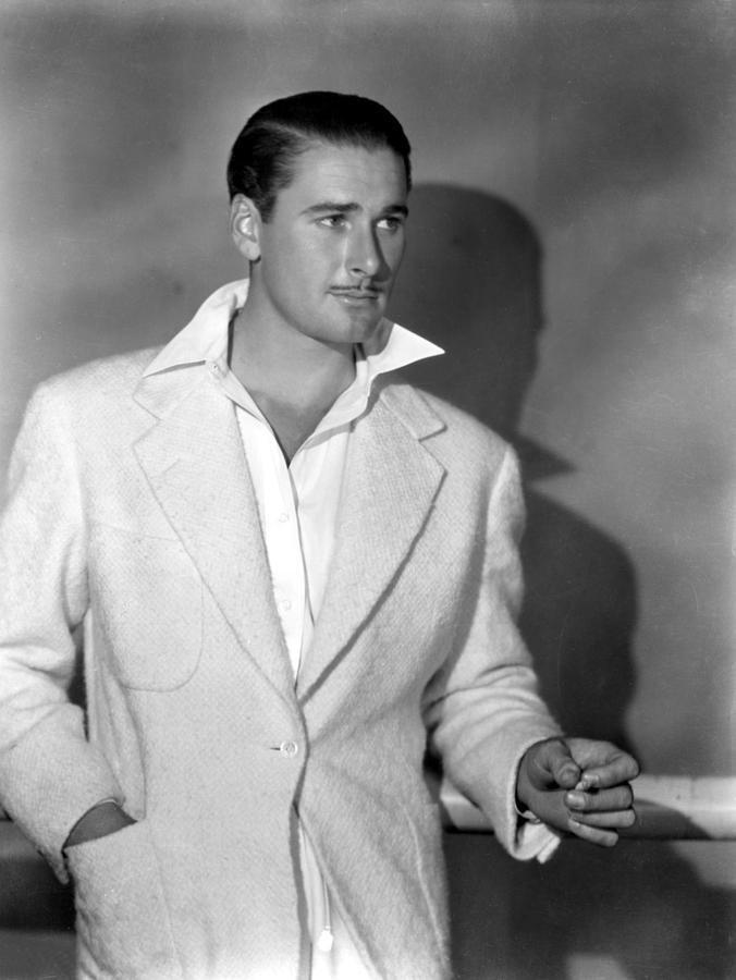 1930s Fashion Photograph - Errol Flynn, May, 1938 by Everett