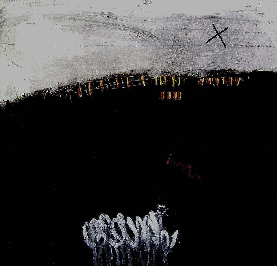 Painting Painting - Eruption  Vii by Jorgen Rosengaard