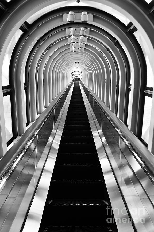 Escalator Photograph - Escalation by Dean Harte