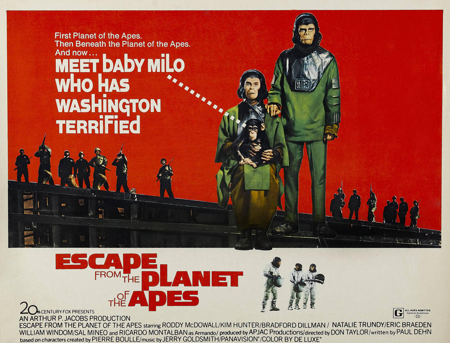 1970s Movies Photograph - Escape From The Planet Of The Apes, L-r by Everett