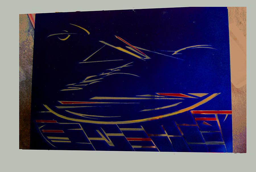 Espace 3d Sur Miroir Painting by Nicolas Bitar