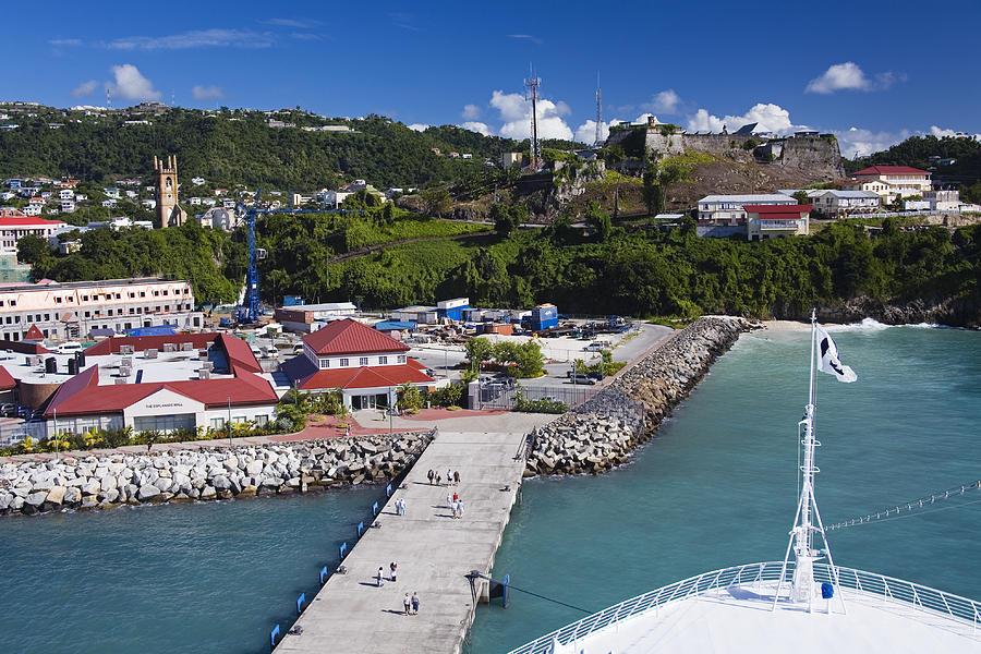 Horizontal Photograph - Esplanade Area From Cruise Ship At Wharf by Richard Cummins