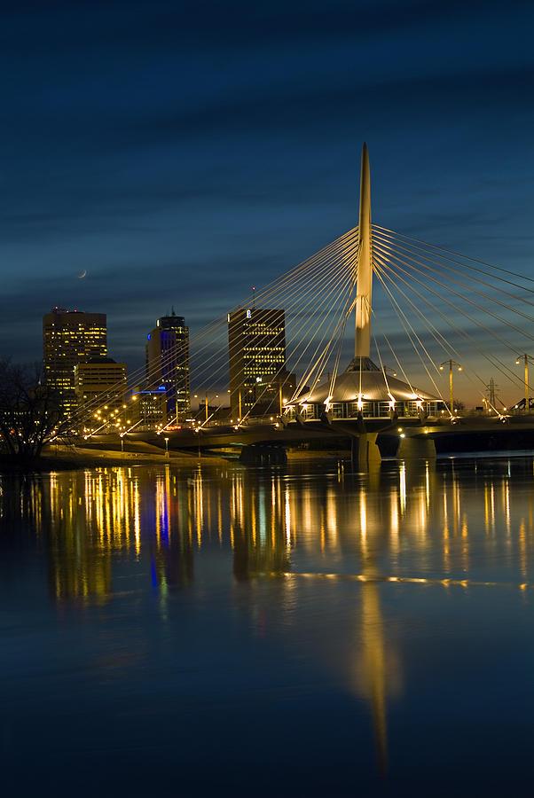 Bridges Photograph - Esplanade Bridge Over Red River by Mike Grandmailson