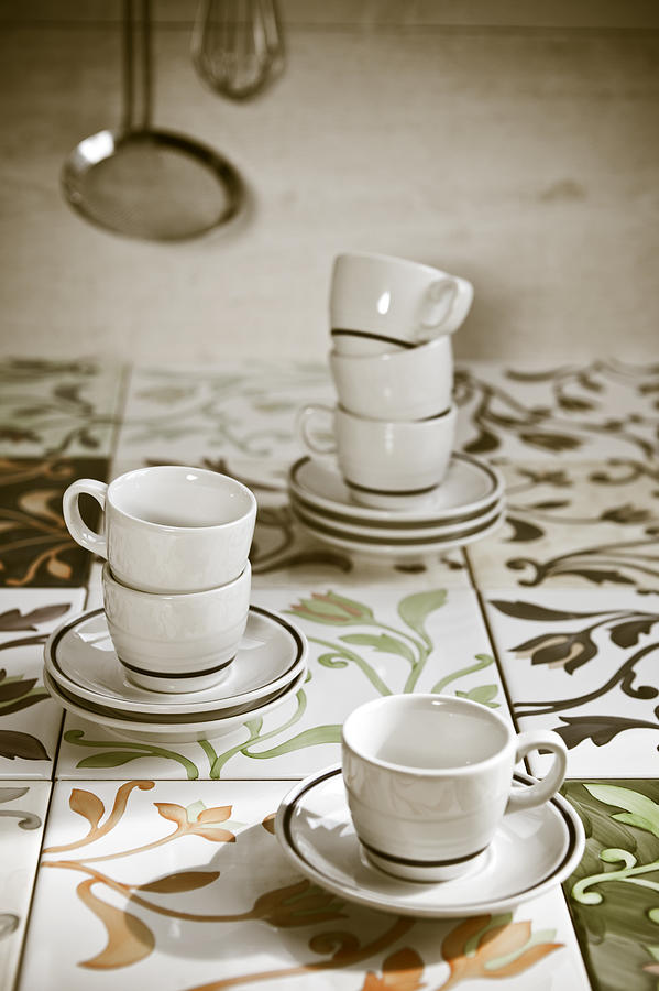 Cups Photograph - Espresso Cups by Joana Kruse