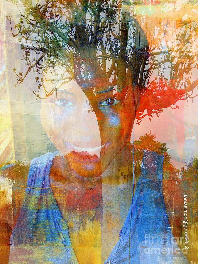 Simon Mixed Media - Esprit Du Baobab by Fania Simon