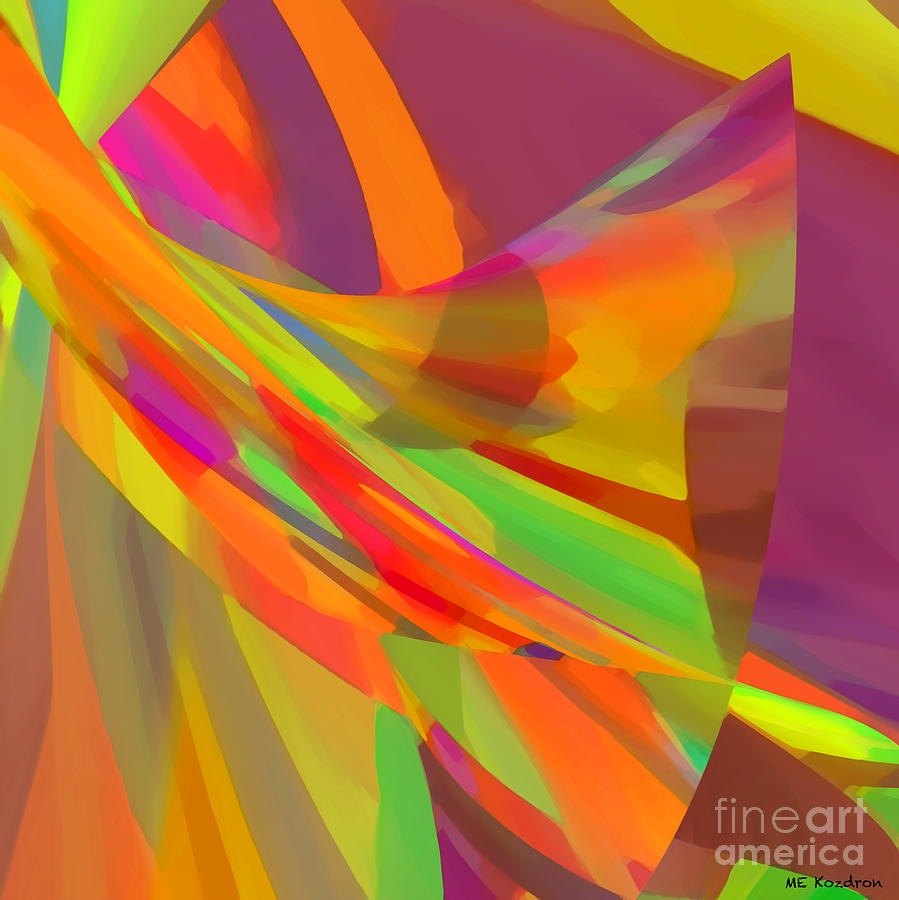 Abstract Digital Art - Esprit by ME Kozdron