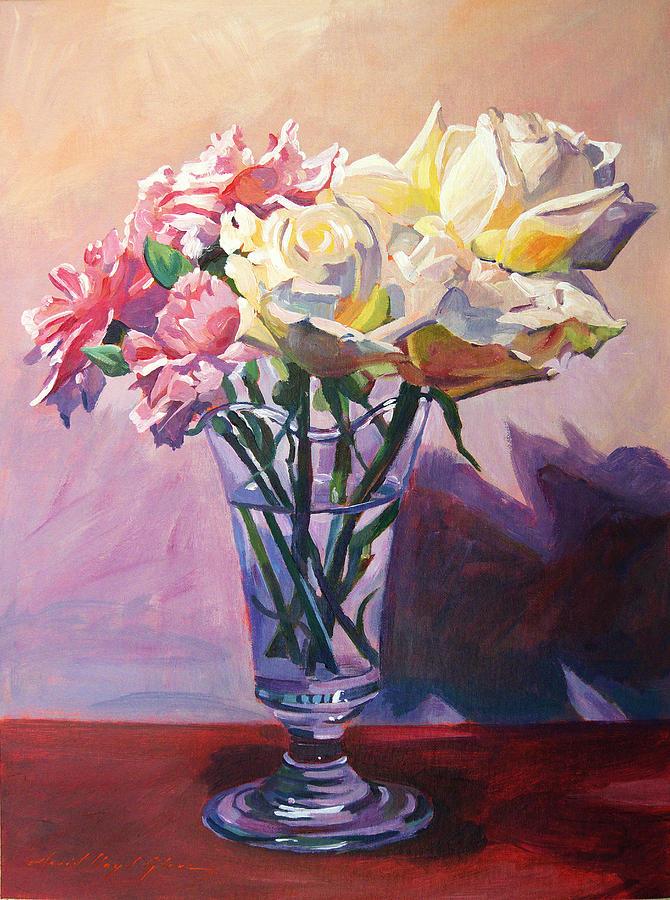 Still Life Painting - Essence Of Rose by David Lloyd Glover