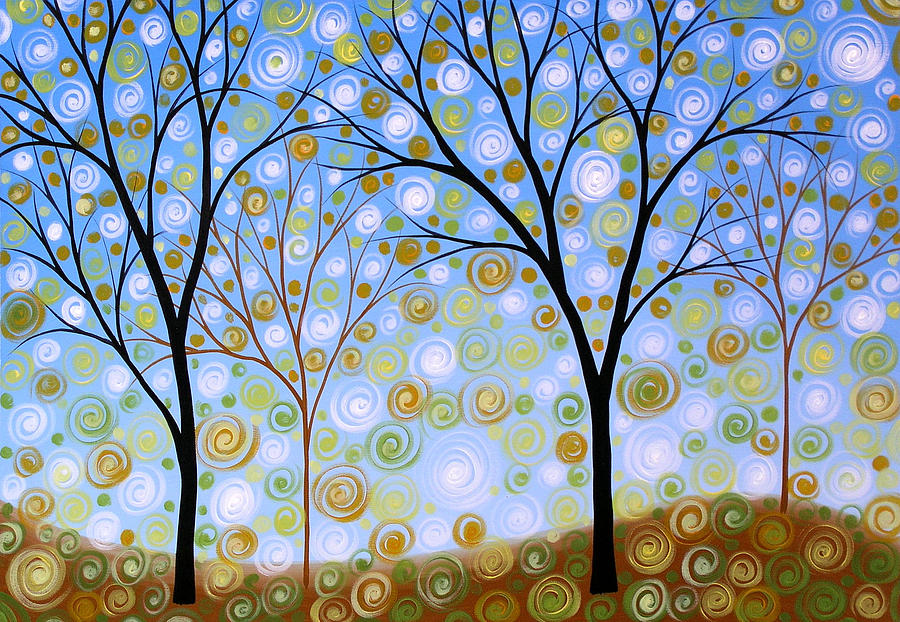 Trees Painting - Essence Of The Day by Amy Giacomelli