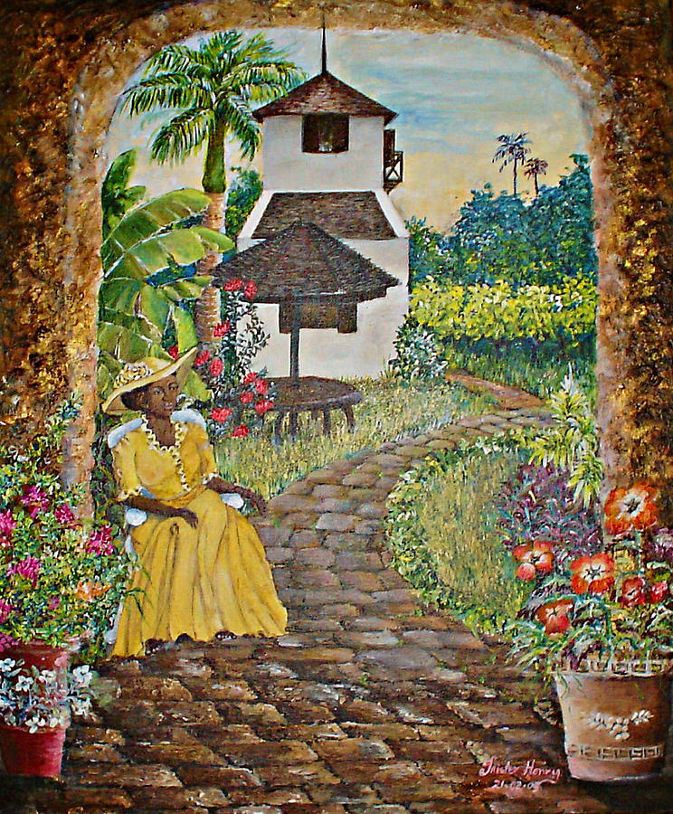 Caribbean Painting - Estate Garden by Trister Hosang