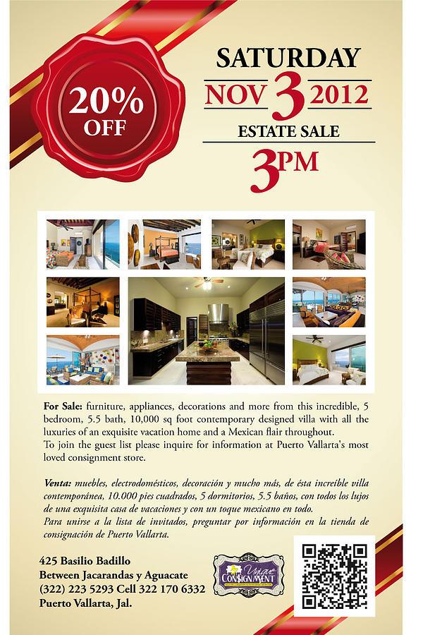 Estate Digital Art - Estate Sale Flyer by Unique Consignment