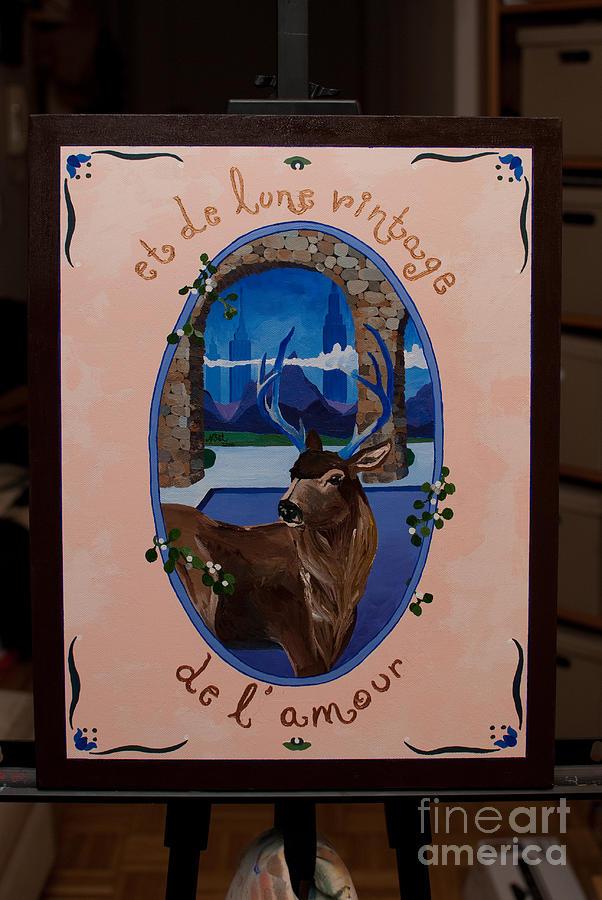 Elk Painting - et de Lune Vintage by Becka Noel