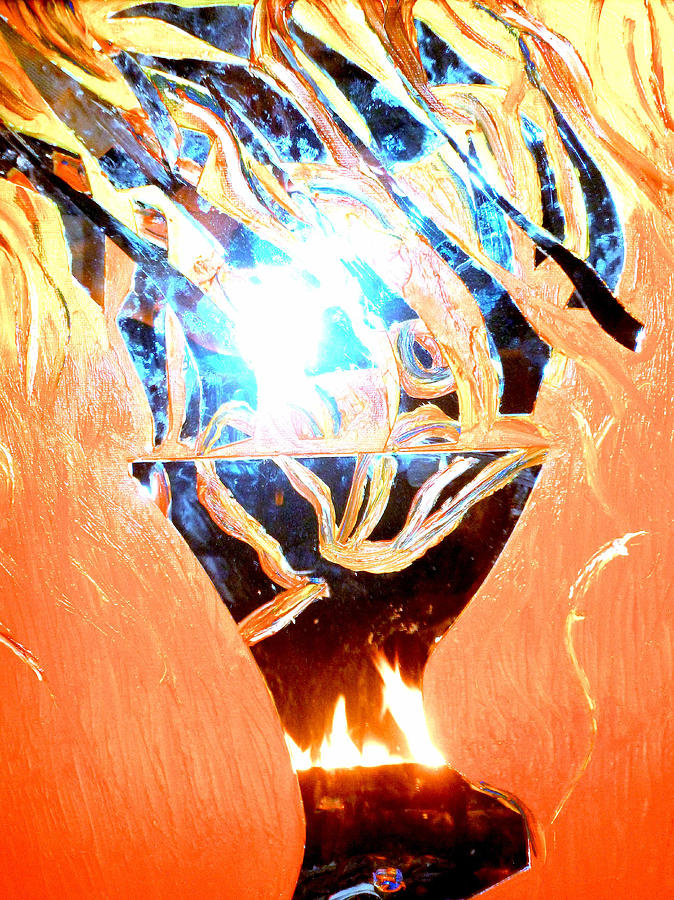 Fire Painting - Eternal Torch by Tyler Schmeling