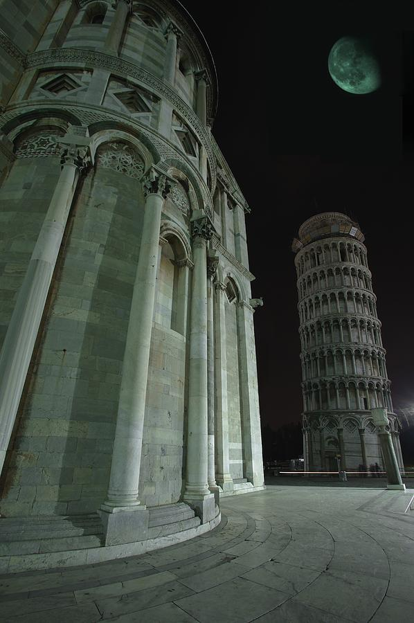 Architectural Photograph - Ethereal Moonlight Scene Of Duomo Santa by Carson Ganci
