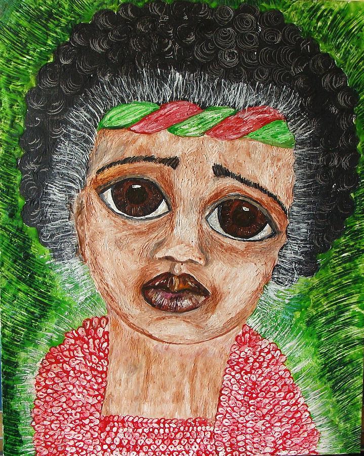 Children Painting - Ethnic Baby by Jeanne Mytareva