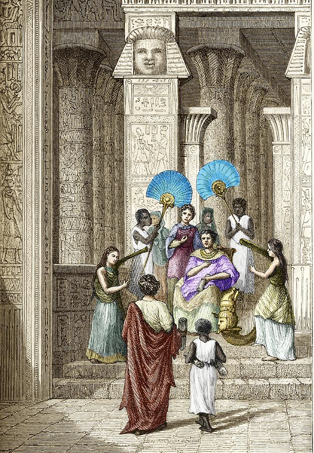 Ptolemy Photograph - Euclid And Ptolemy Soter, King Of Egypt by Sheila Terry