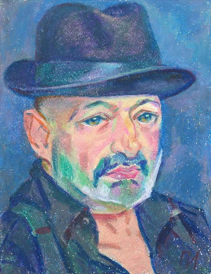 Paper Painting - Eugene Zuckerman by Leonid Petrushin