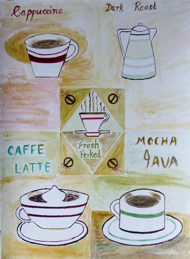 Coffee Painting - Eureka by Sonali Gangane