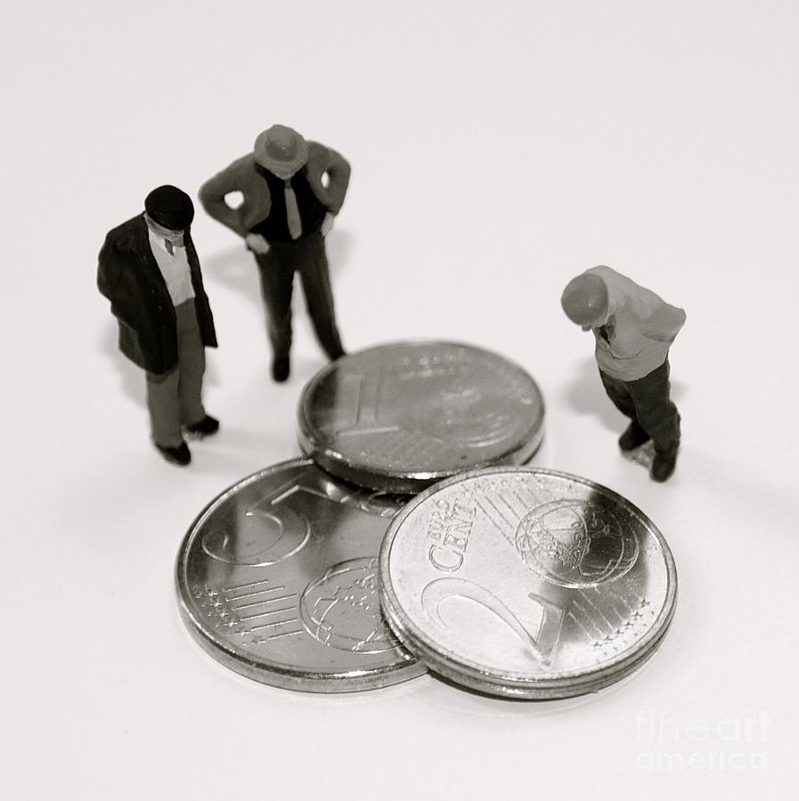 Euro Photograph - Euro Crisis by Louise Fahy