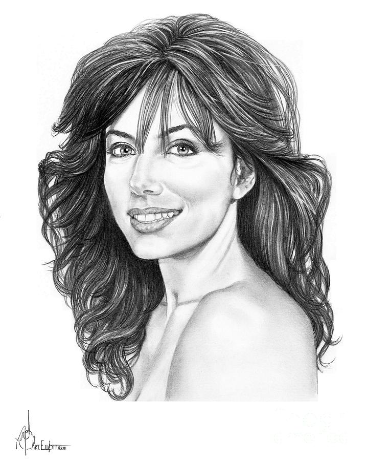Drawing Drawing - Eva Longoria by Murphy Elliott