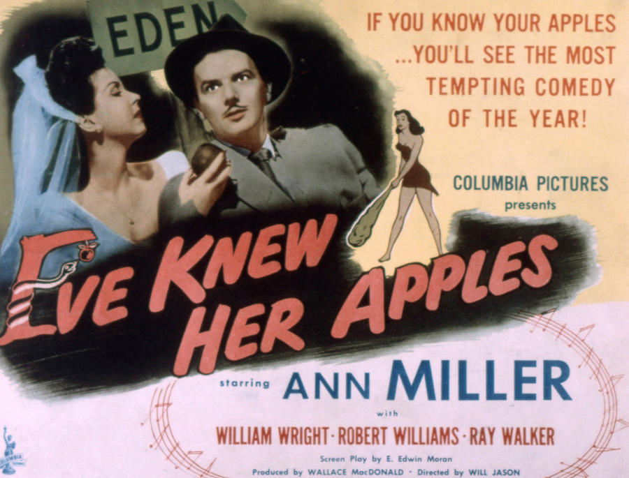 1940s Movies Photograph - Eve Knew Her Apples, Ann Miller by Everett