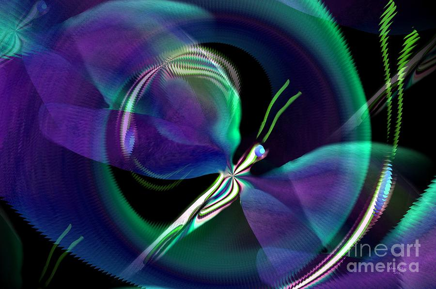 Eve Digital Art - Eve Of The Dragonfly by Maria Urso
