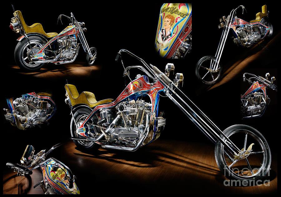 Evel Knievel Harley Davidson Xl1000: Evel Knievel Harley-davidson Chopper Photograph By Frank