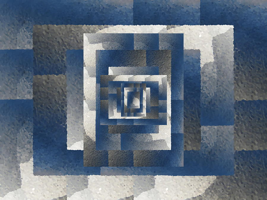 Abstract Digital Art - Even On A Cloudy Day by Tim Allen