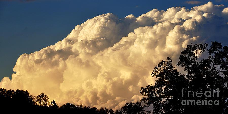 Ridge Photograph - Evening Clouds by Thomas R Fletcher