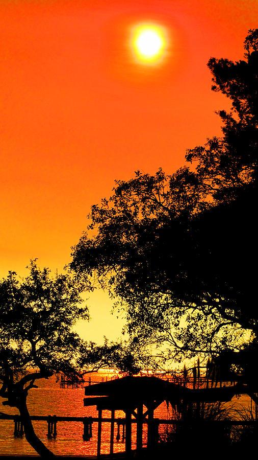 Sun Photograph - Evening Fire by Nicole I Hamilton