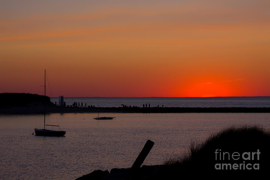 Sunset Photograph - Evening Harbor Silhouette by Douglas Armstrong