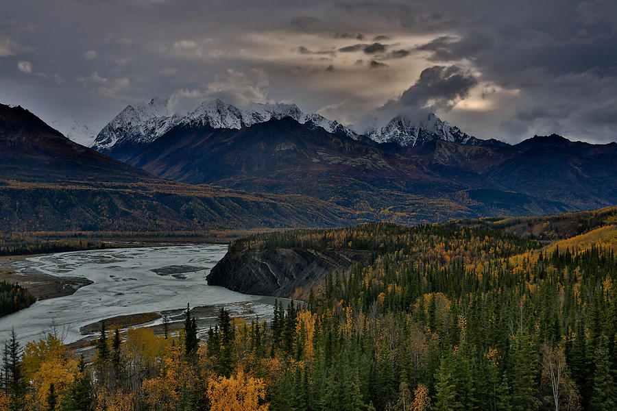Landscape Photograph - Evening Matanuska Valley  by Sam Amato
