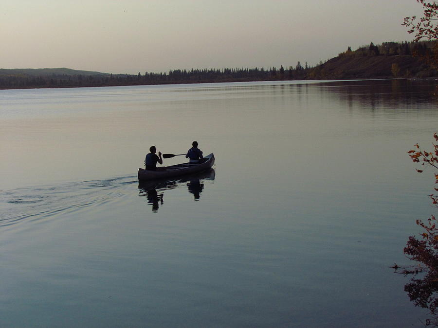 Canoe Photograph - Evening Ride by Andrea Arnold