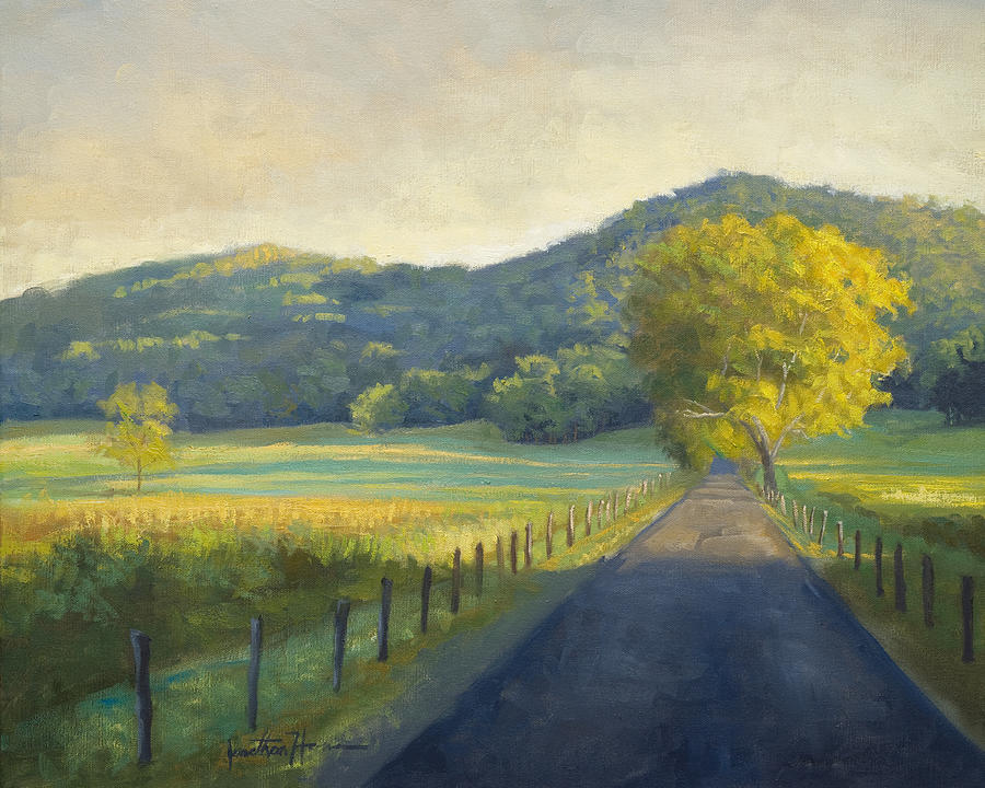 Landscape Painting - Evening Stroll by Jonathan Howe