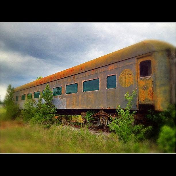 Antique Photograph - Evening #train To Nowhere by Misty D
