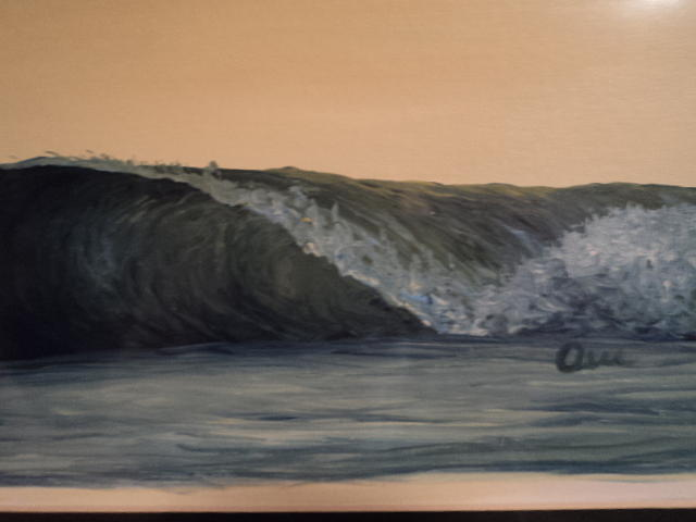 Wave Painting - Evening Wave by Osee Koger