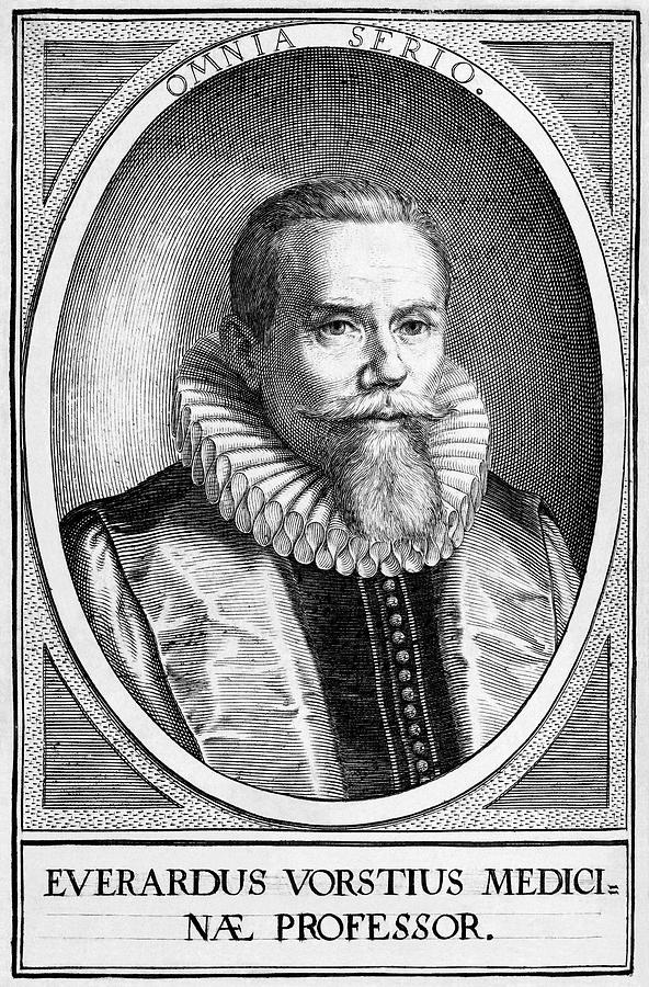 1500s Photograph - Everardus Vorstius, Dutch Physician by Middle Temple Library