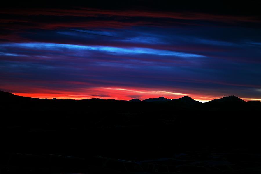 Sunset Photograph - Evil Blue Sky by Kevin Bone